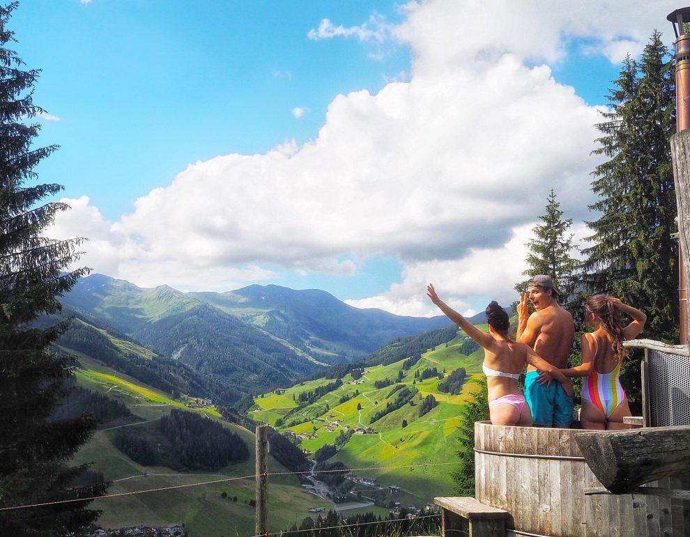 5 dagen Saalbach - Hinterglemm in de zomer Underschied Alm Saalbach Tom Grond