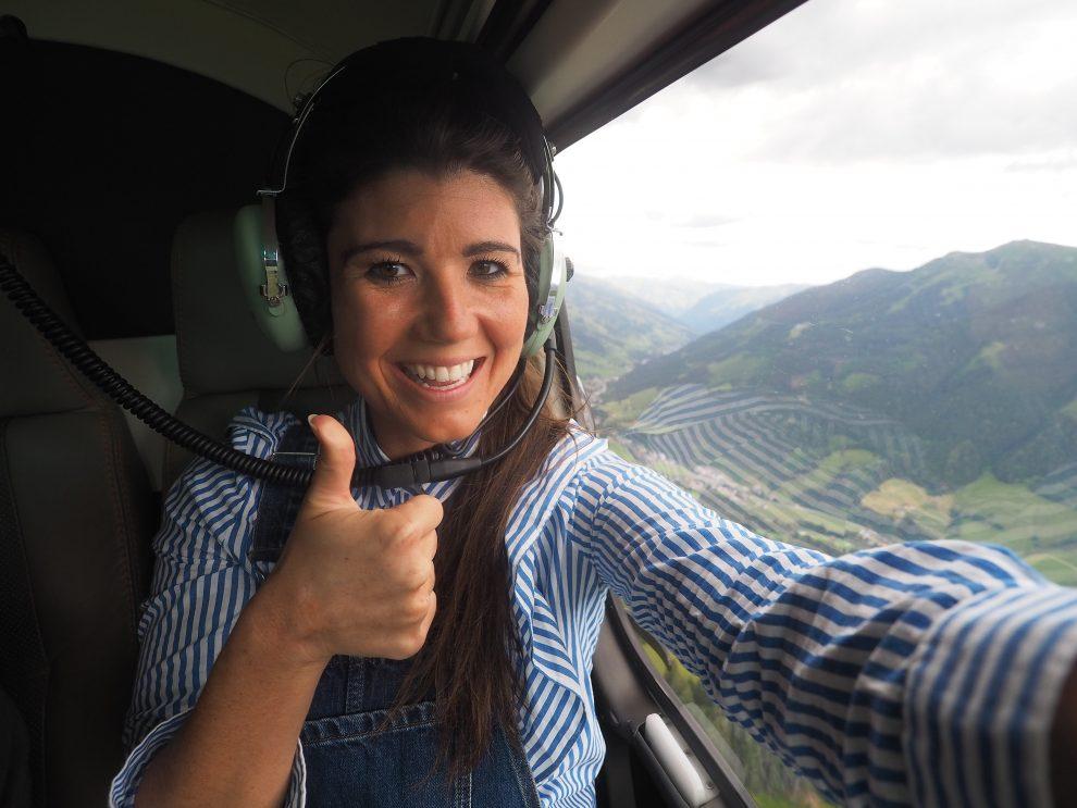 Saalbach - Hinterglemm Oostenrijk, Mijn eerste helikoptervlucht tijdens StoryBase 2018 zomer editie
