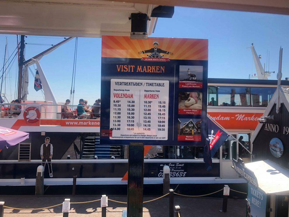 Dagje Volendam en Marken - Van Volendam naar Marken met de boot - Vaartijden Marken Express