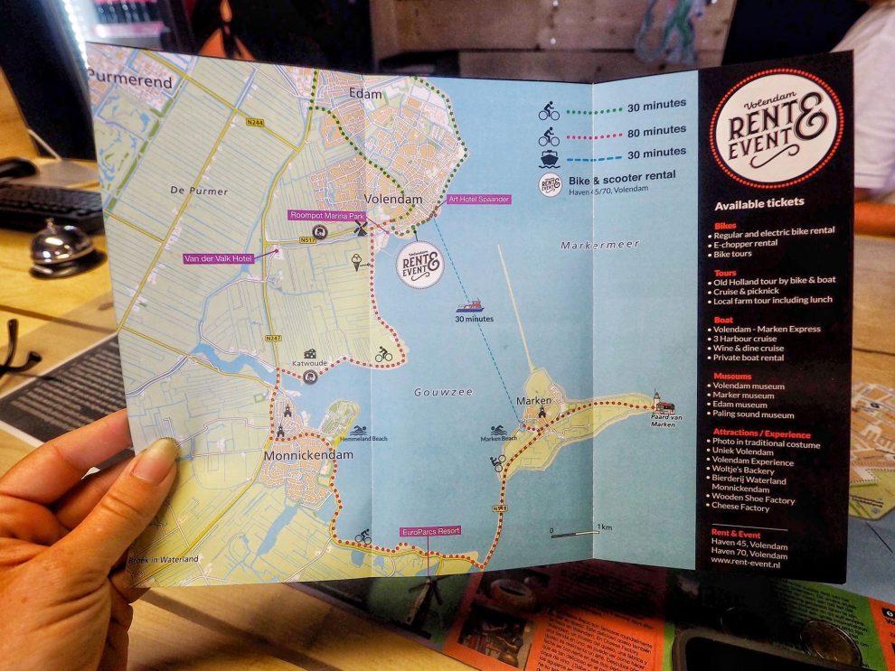 Dagje Volendam en Marken -Routes om naar Marken te gaan met een fiets of E-Bike