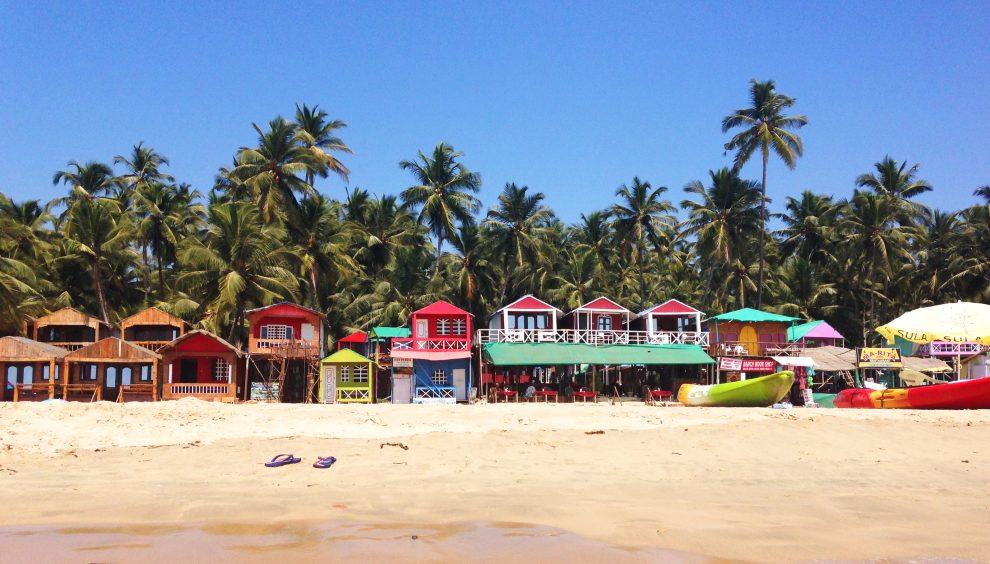Palolem beach Zuid Goa. Een vakantie naar Goa India in de wintermaanden