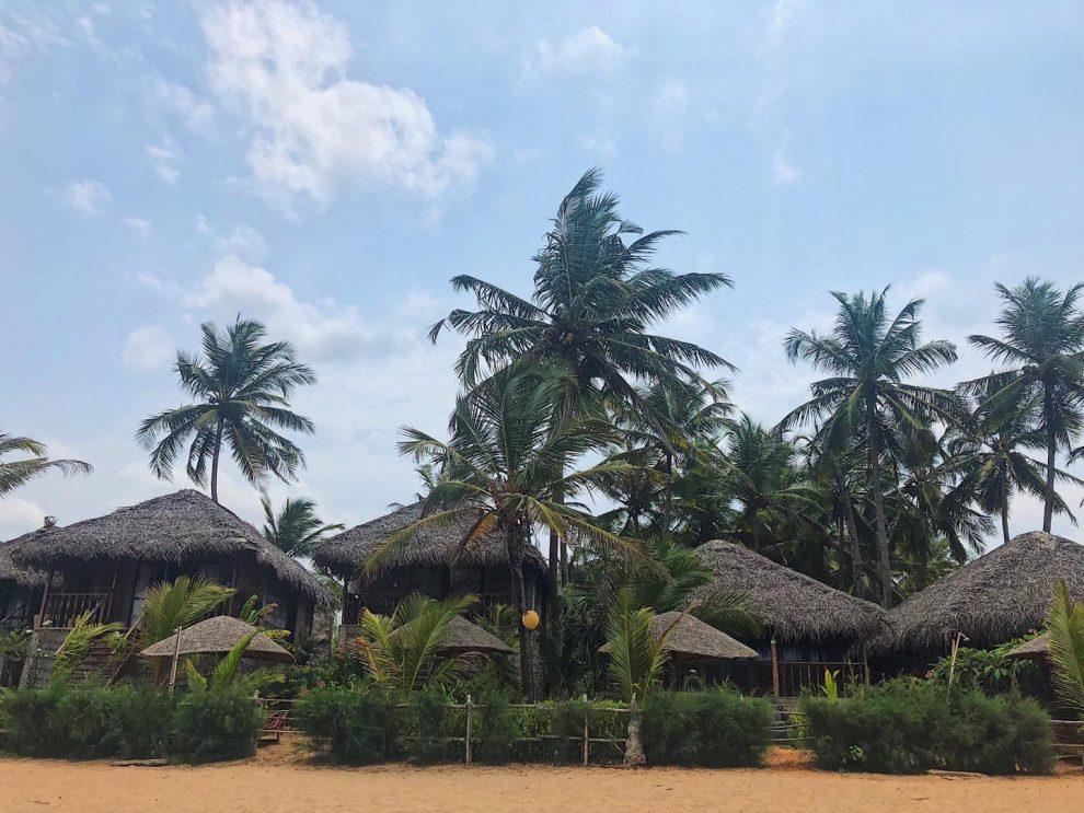 Bijzonder overnachten in Goa, beach shacks op Agonda Beach in Zuid Goa. Vakantie Goa India
