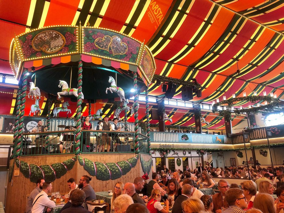 Oktoberfest München Duitsland, Biertenten Oktoberfest München Duitsland, Biertenten Marstall