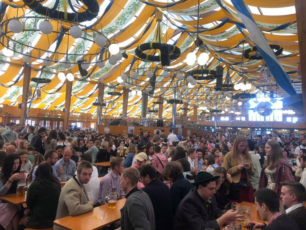 Oktoberfest München Duitsland, Biertenten Oktoberfest München Duitsland, Biertenten Pschorr-Bräurosl