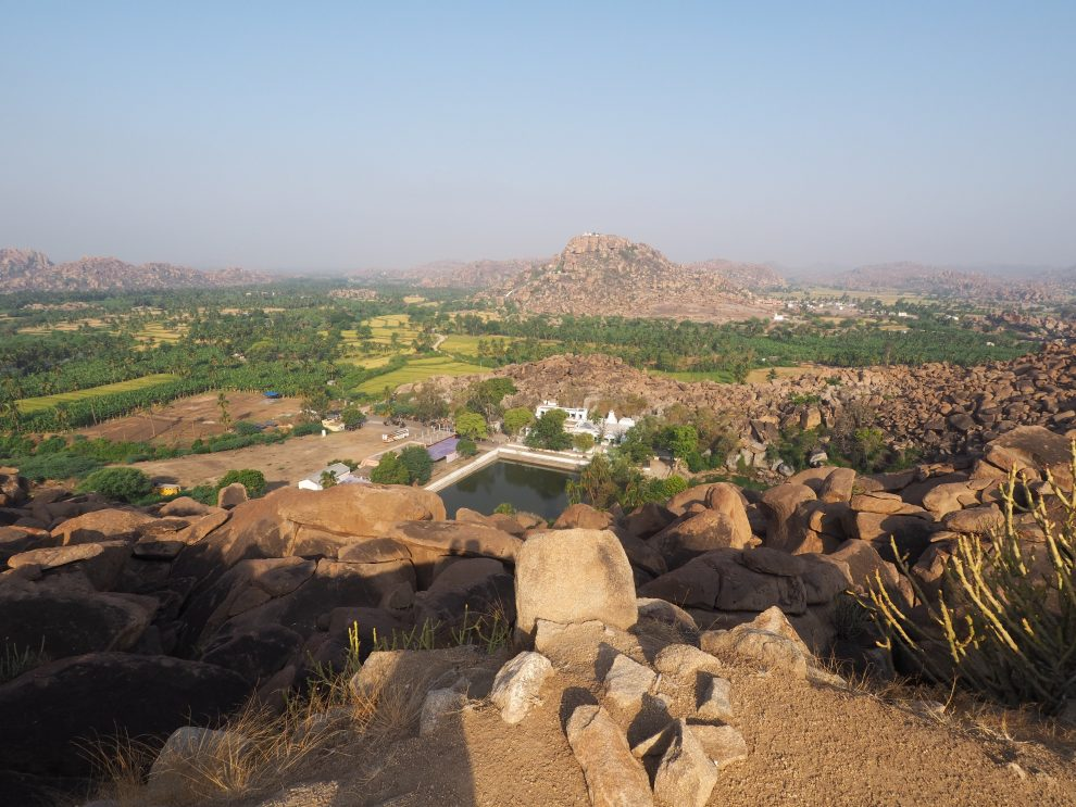 Reizen naar Hampi, Pampa Sarovar. Anegundi, travel guide to Hampi India