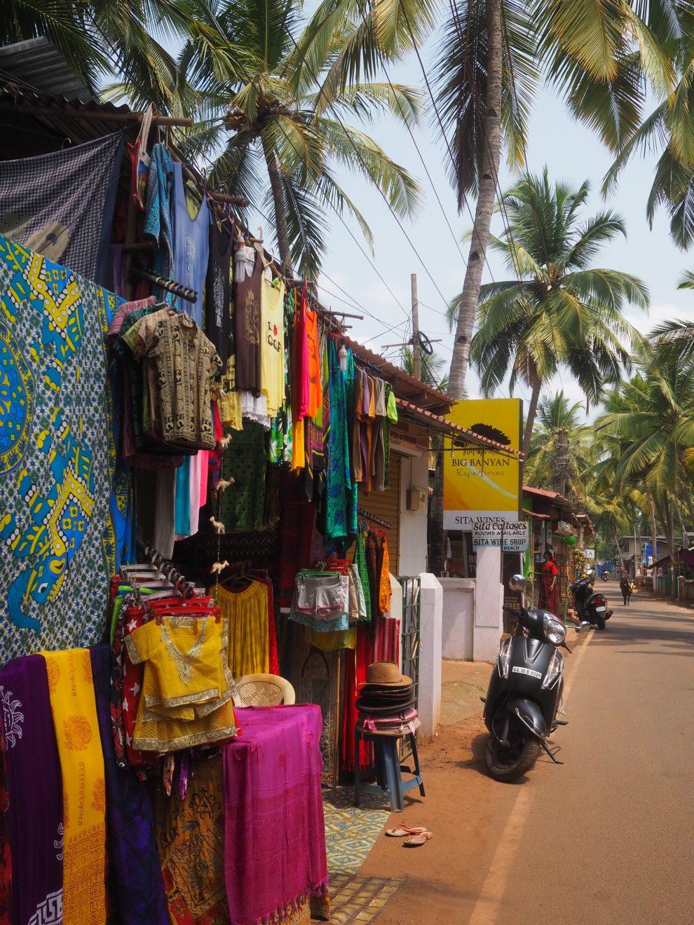 De omgeving van Agonda beach Zuid Goa. Een vakantie naar Goa India