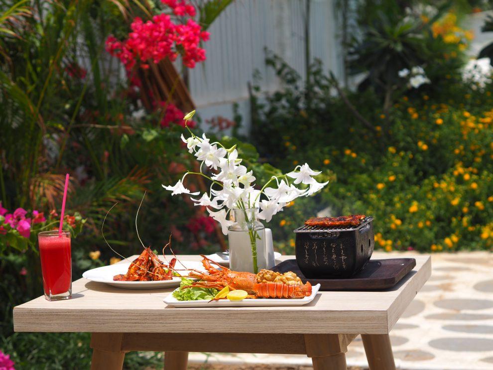Agonda beach Zuid Goa. Lunchen en dineren bij The White Goa. Een vakantie naar Goa India