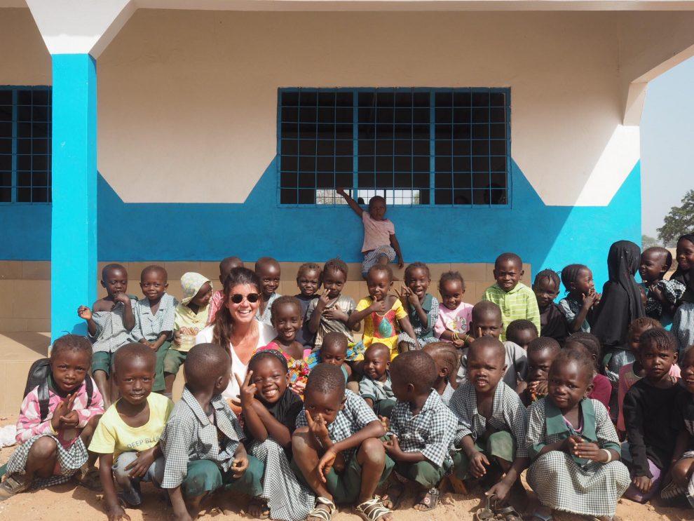 Chloe Sterk in Gambia Afrika