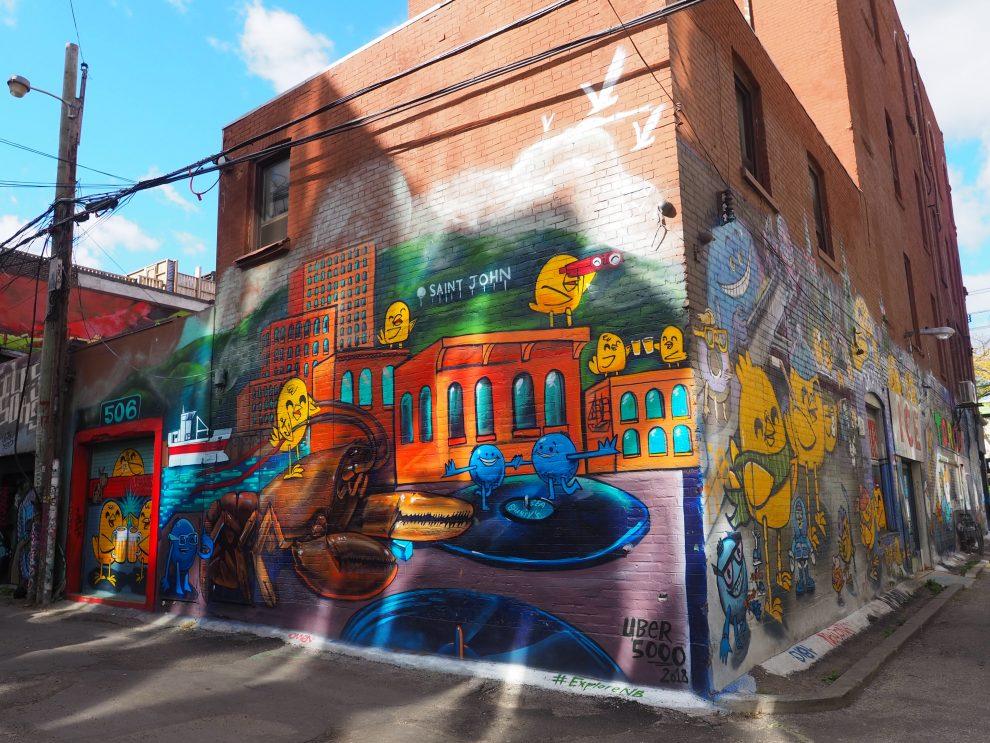 Citytrip Toronto. Leukste wijk in Toronto, Graffiti Alley bezienswaardigheden Toronto Canada