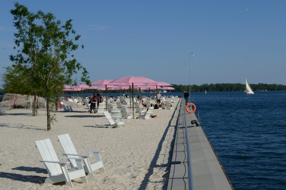 Citytrip Toronto. stranden rondom Toronto, stadsstrand, Sugar Beach