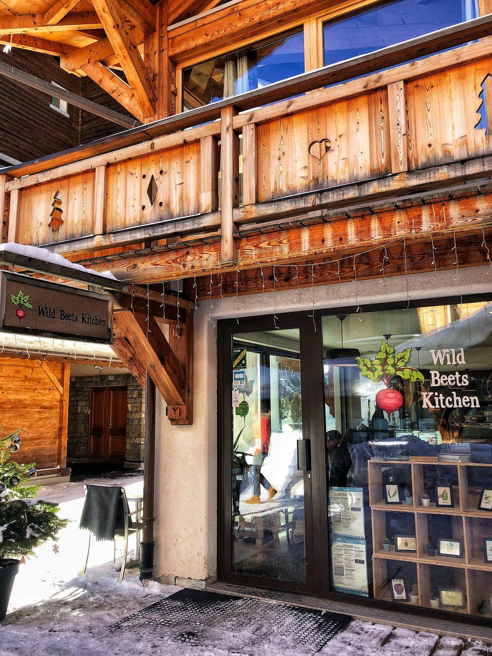 Wintersport Frankrijk Portes du Soleil ; Van Les Gets naar Avoriaz. Wild Beets Kitchen vegan food