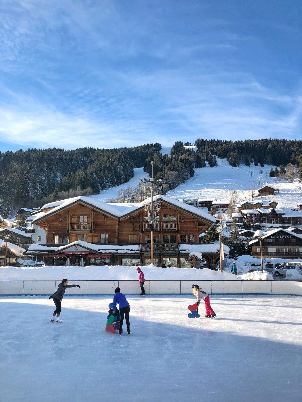 Wintersport Frankrijk Portes du Soleil ; Van Les Gets naar Avoriaz.Wintersport Frankrijk Portes du Soleil ; Van Les Gets naar Avoriaz.