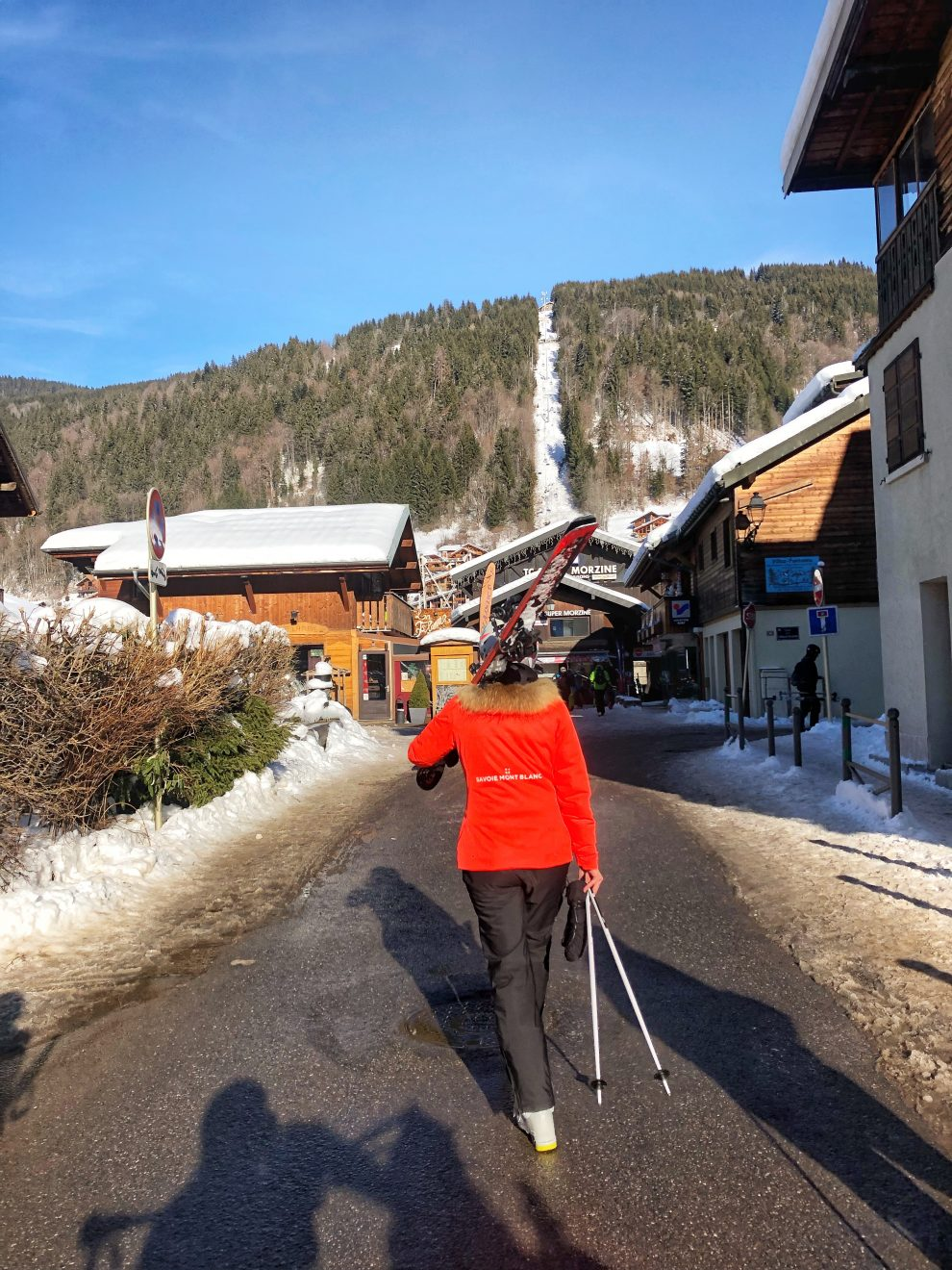 Wintersport Frankrijk Portes du Soleil ; Verbindingslift van Les Gets naar Avoriaz.