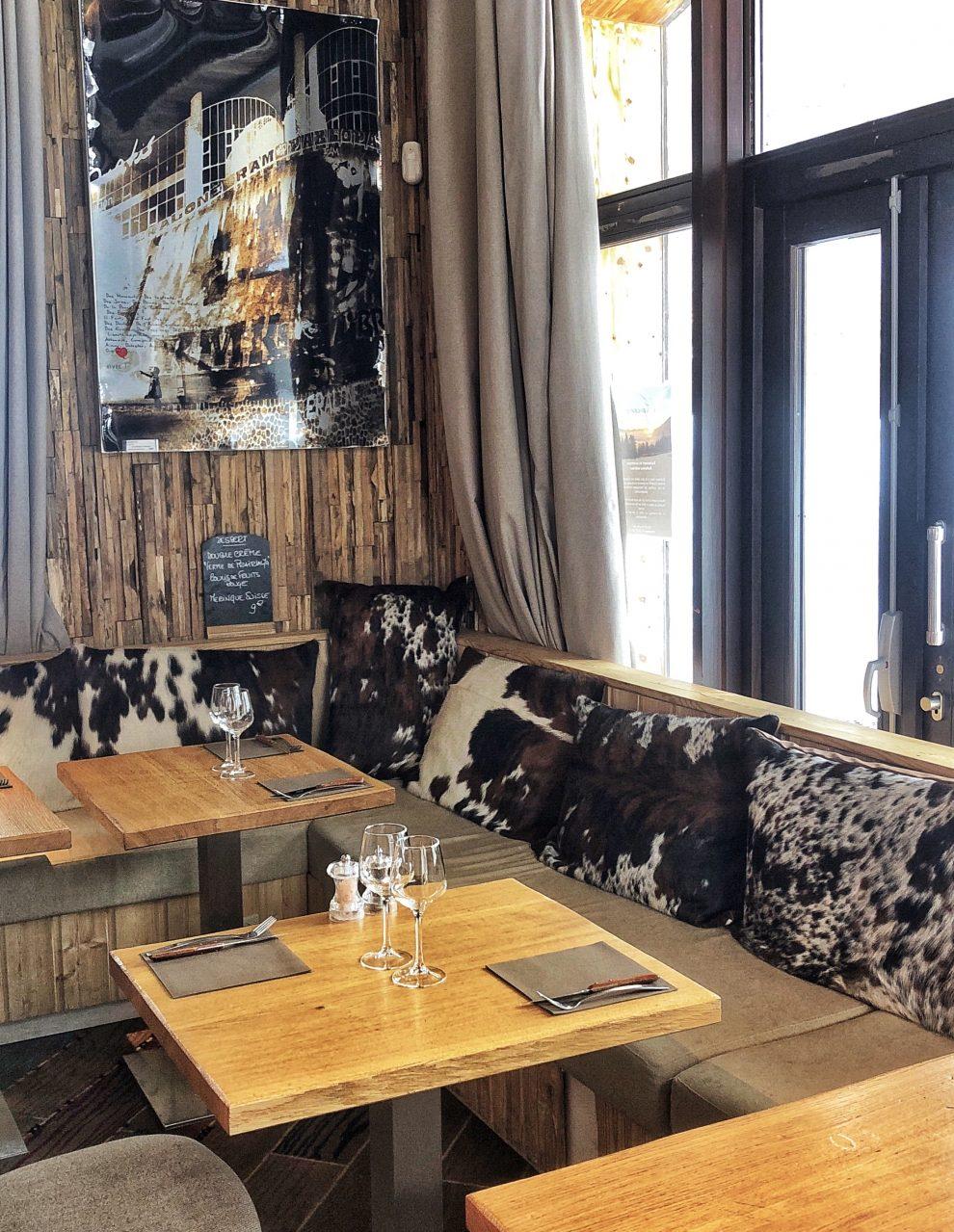 Wintersport Frankrijk Portes du Soleil ; Autovrij dorp Avoriaz 1800 Restaurant L'Epicerie