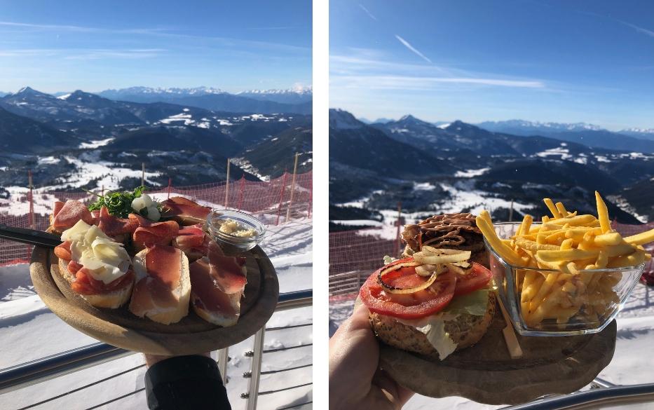 Dolomiti Superski; wintersport in de Italiaanse Dolomieten - Carezza Rifugio PaolinaHütte