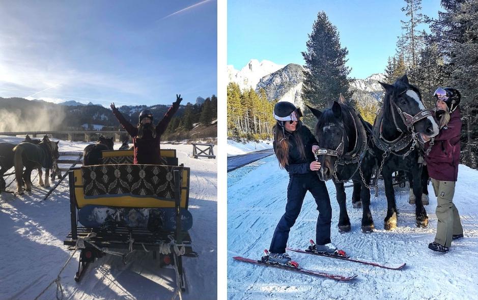 Dolomiti Superski; wintersport in de Italiaanse Dolomieten - paarden skilift Lagazuoi