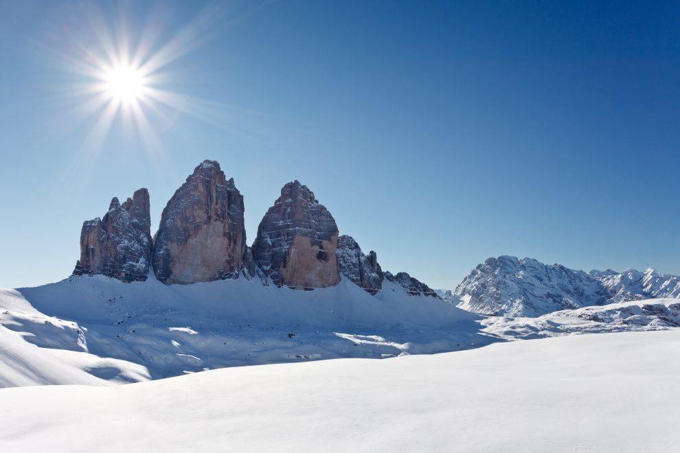 Dolomiti Superski; wintersport in de Italiaanse Dolomieten - Drei Zinnen