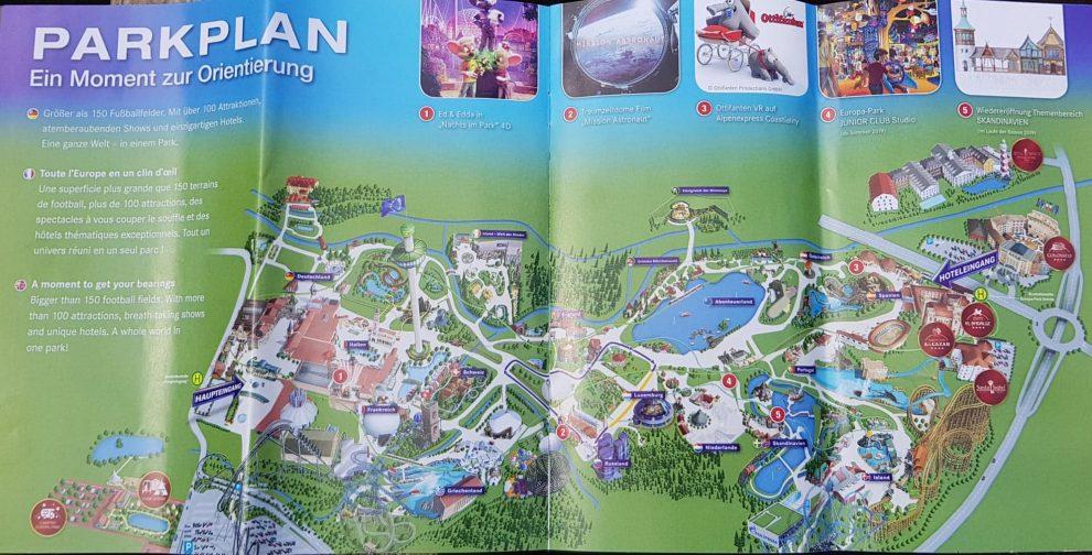 plattegrond Europapark achtbanen en attracties - Weekendje weg naar pretpark Europa Park