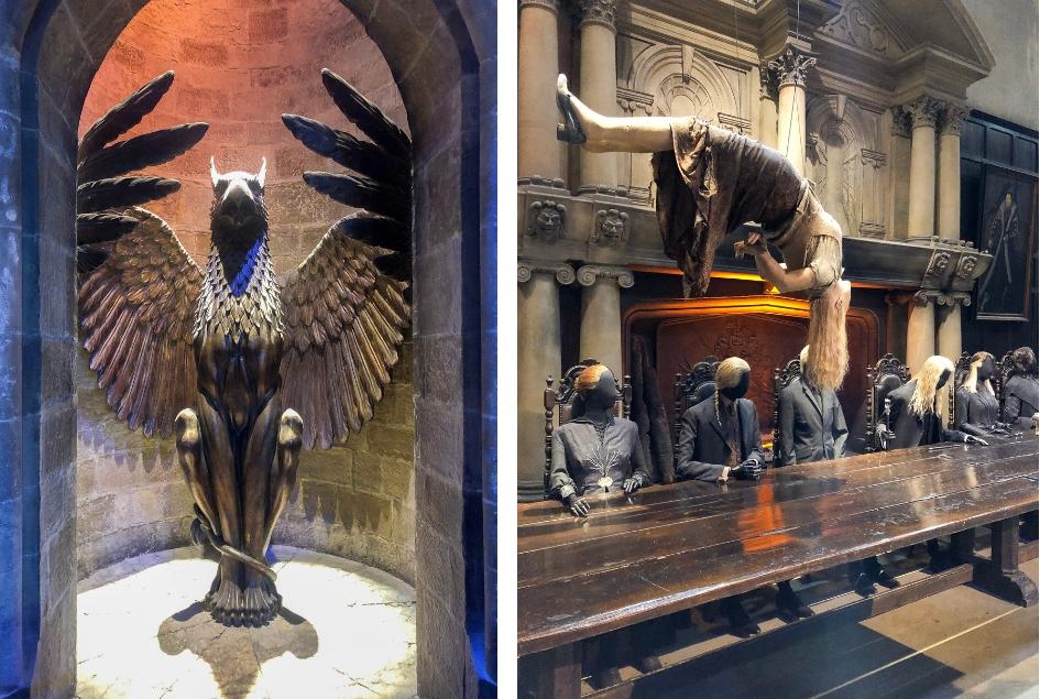 bezoek aan de Harry Potter Studio Tour in London. Dit de beste tips voor een dagtrip vanuit Londen. Perkamentus kamer, dooddoeners tafel