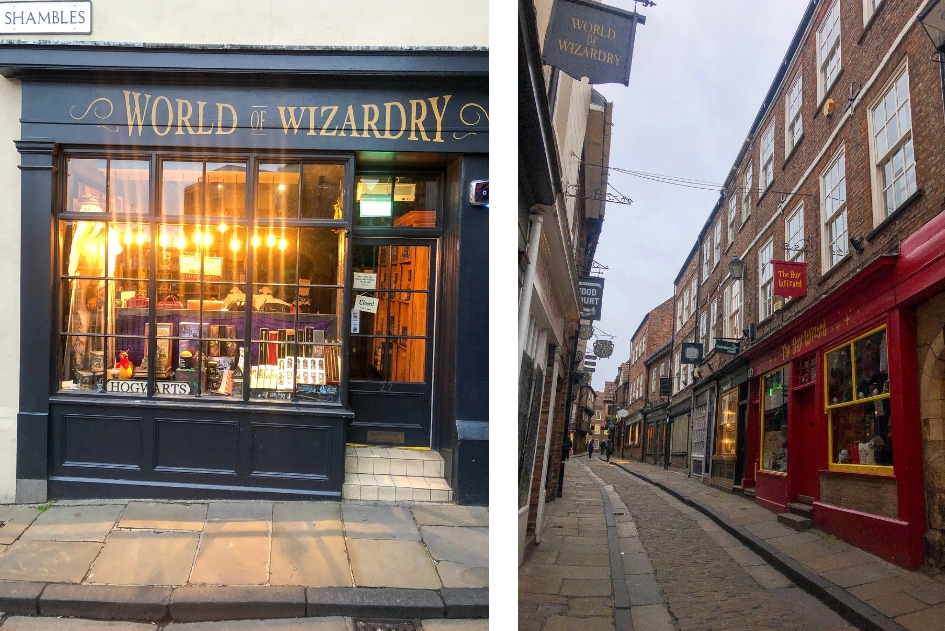 Harry Potter reis door Engeland. Shambles - stedentrip York - Alle Harry Potter filmlocaties