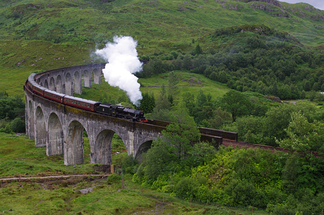 Harry Potter reis door Engeland. Zweinstein express - The Jacobite. Harry potter trein van Fort William naar Mallaig. Alle Harry Potter filmlocaties