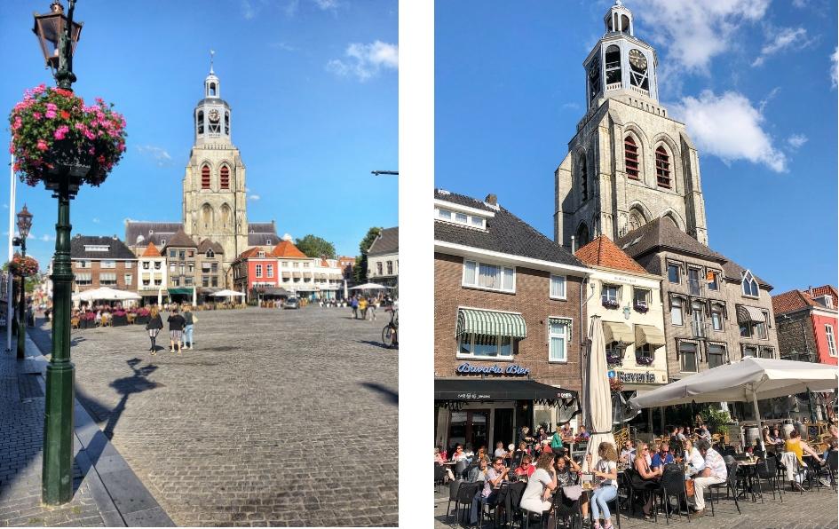 Weekendje weg naar Bergen op Zoom , beklimmen Peperbus - Sint Gertrudiskerk