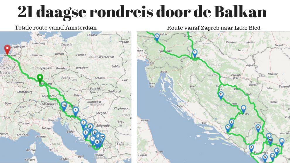 Balkan roadtrip - 3weekse reisroute - roadtrip route door Bosnie & Herzegovina, Montenegro, Albanie, Kosovo, Kroatie, Slovenie en Duitsland
