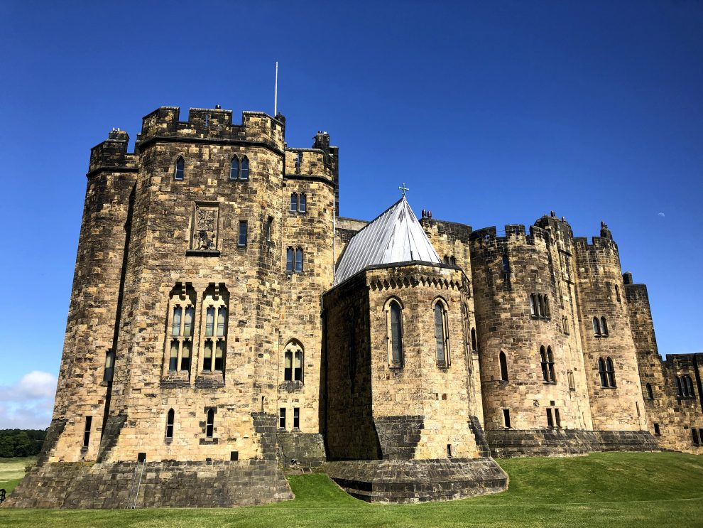 Harry Potter reis door Engeland. Alnwick Castle - vliegles Harry Potter - Alle Harry Potter filmlocaties