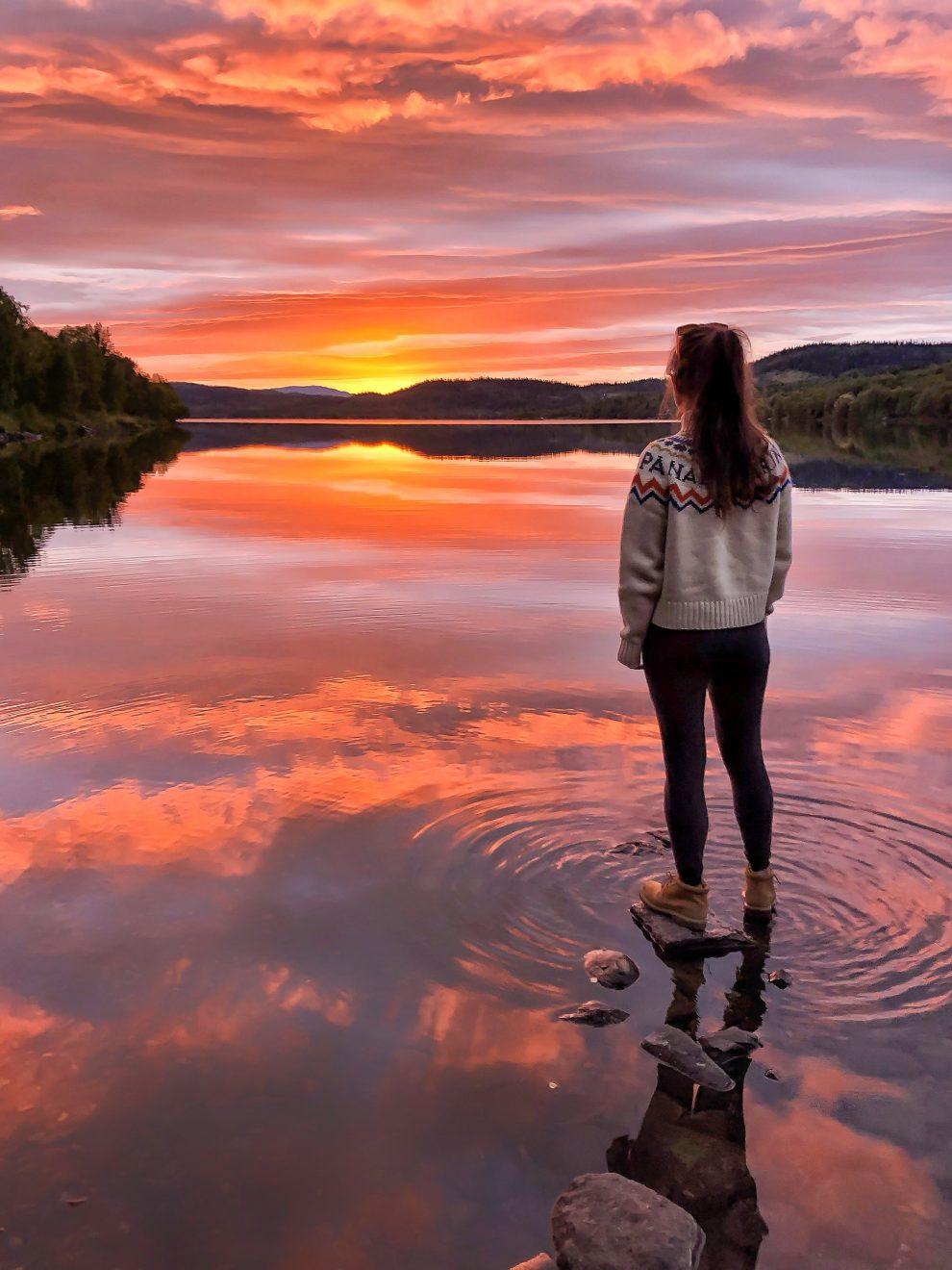 Vakantie in de wildernis van Zweden - Bjorkvattnet, Vildmarksvägen, Wilderness Road Zweden, op vakantie in Jamtland.