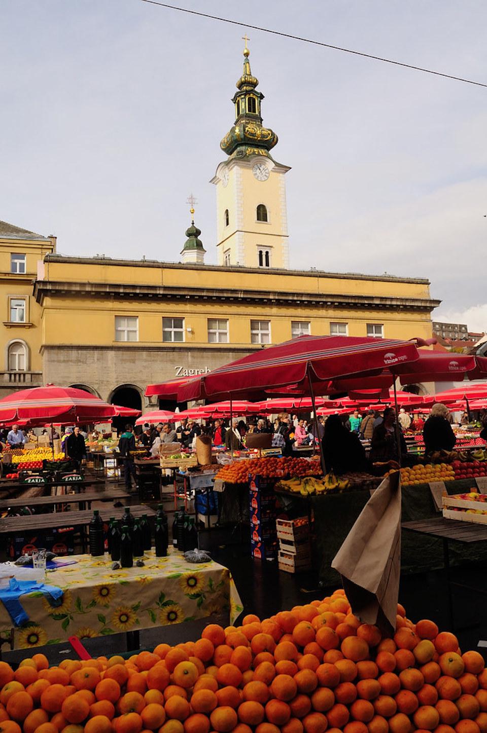 Stedentrip Zagreb - tips - kroatie - kaart Zagreb - Dolac markt