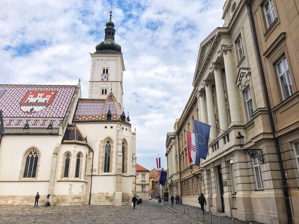 Stedentrip Zagreb - tips - kroatie - kaart Zagreb - Sint-Marcuskerk