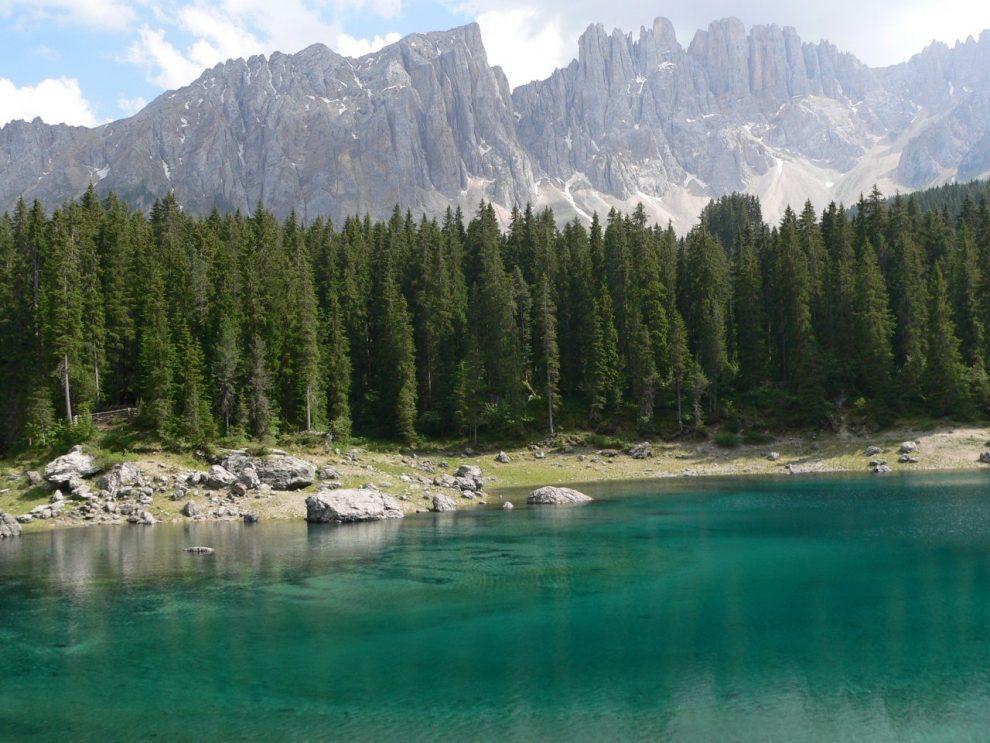 Vakantie naar Zuid Tirol, Dolomieten in de zomer - Rosengartengruppe - Lago di Carezza - Karersee