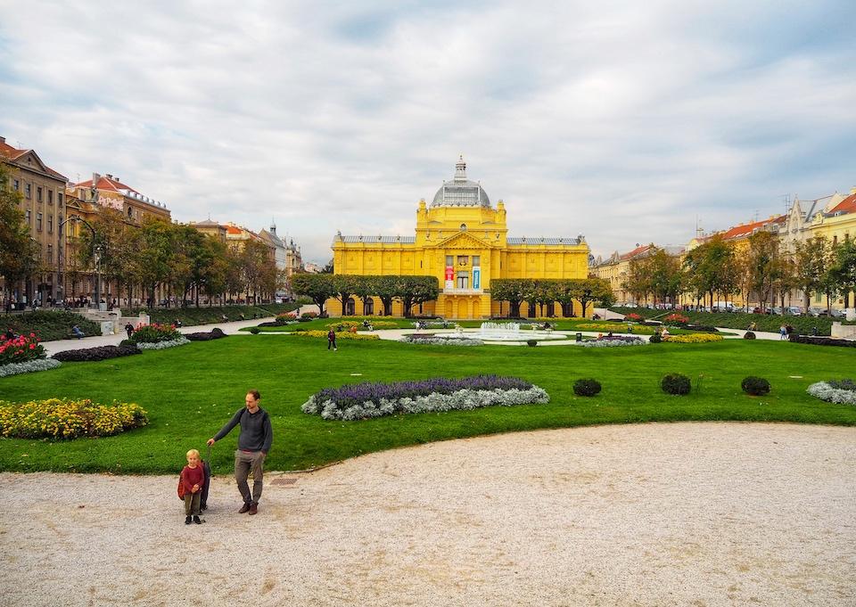 Stedentrip Zagreb - tips - kroatie - kaart Zagreb - Art Pavilion
