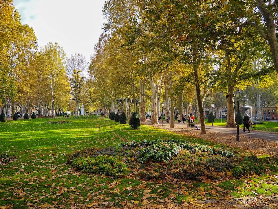 Stedentrip Zagreb - tips - kroatie - kaart Zagreb -hiken en parken in Zagreb Park Zrinjevac