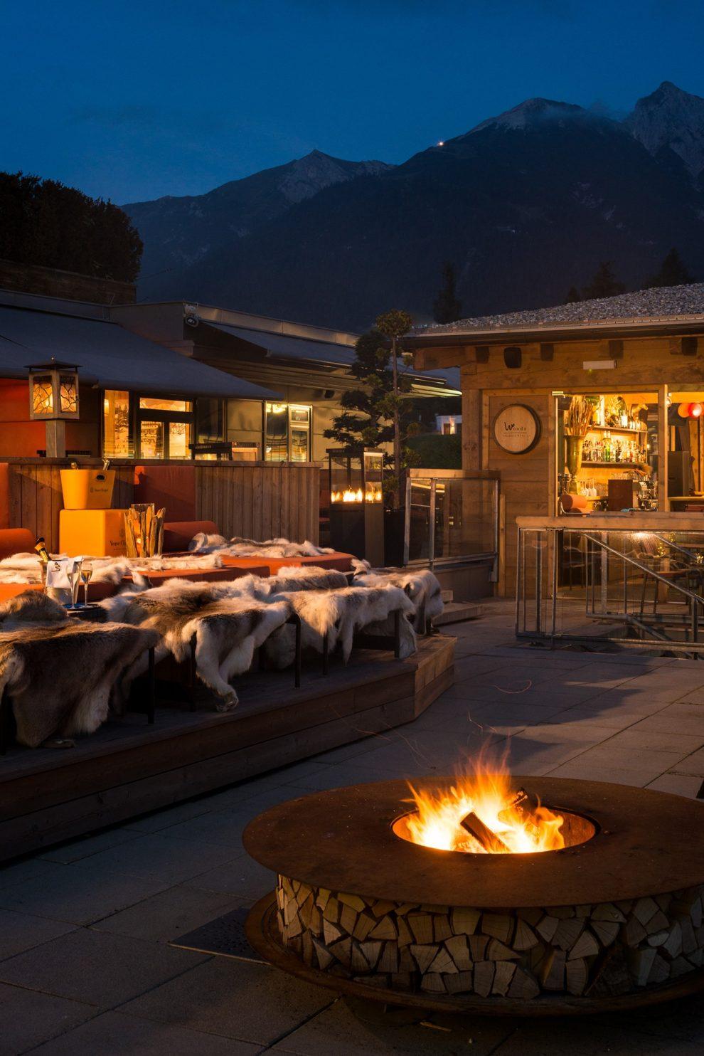 Seefeld in Tirol - skigebied -  wintersportgebied in de Oostenrijkse Alpen - eten en drinken Seefeld - Woods Bar & Kitchen