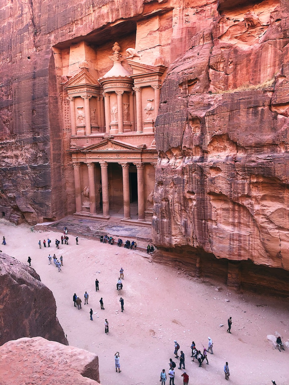Wereldwonder Petra in Jordanië bezoeken. Al Khazneh (Treasury)