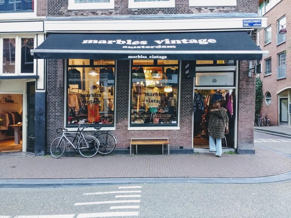 Vintage en tweedehands winkels in Amsterdam centrum - Marbles Vintage
