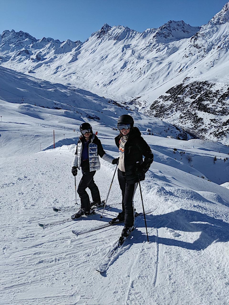 Ischgl ski - wintersport tips - Samnaun - skimap Ischgl - Schhmugglerrunden/ Smuggler's circuits - Amandine Hach - Chloe Sterk
