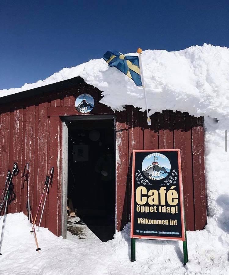 restaurant Toppstugan - Skistar freeride offpiste Åreskutan - Wintersport Åre Zweden - beste skigebied van Zweden