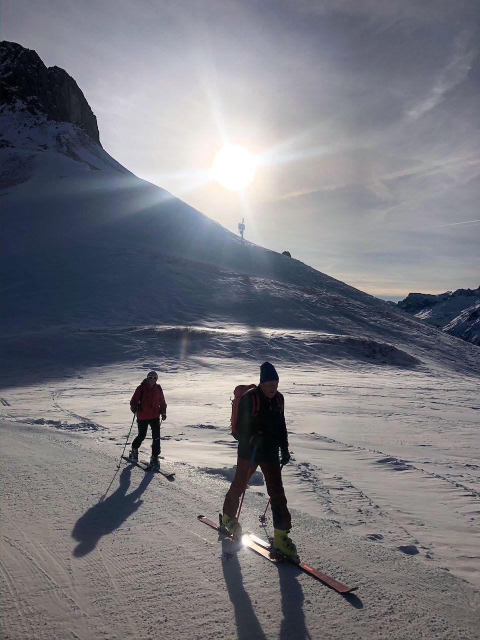 Pure Resort Warth - Schröcken am Arlberg in de winter.