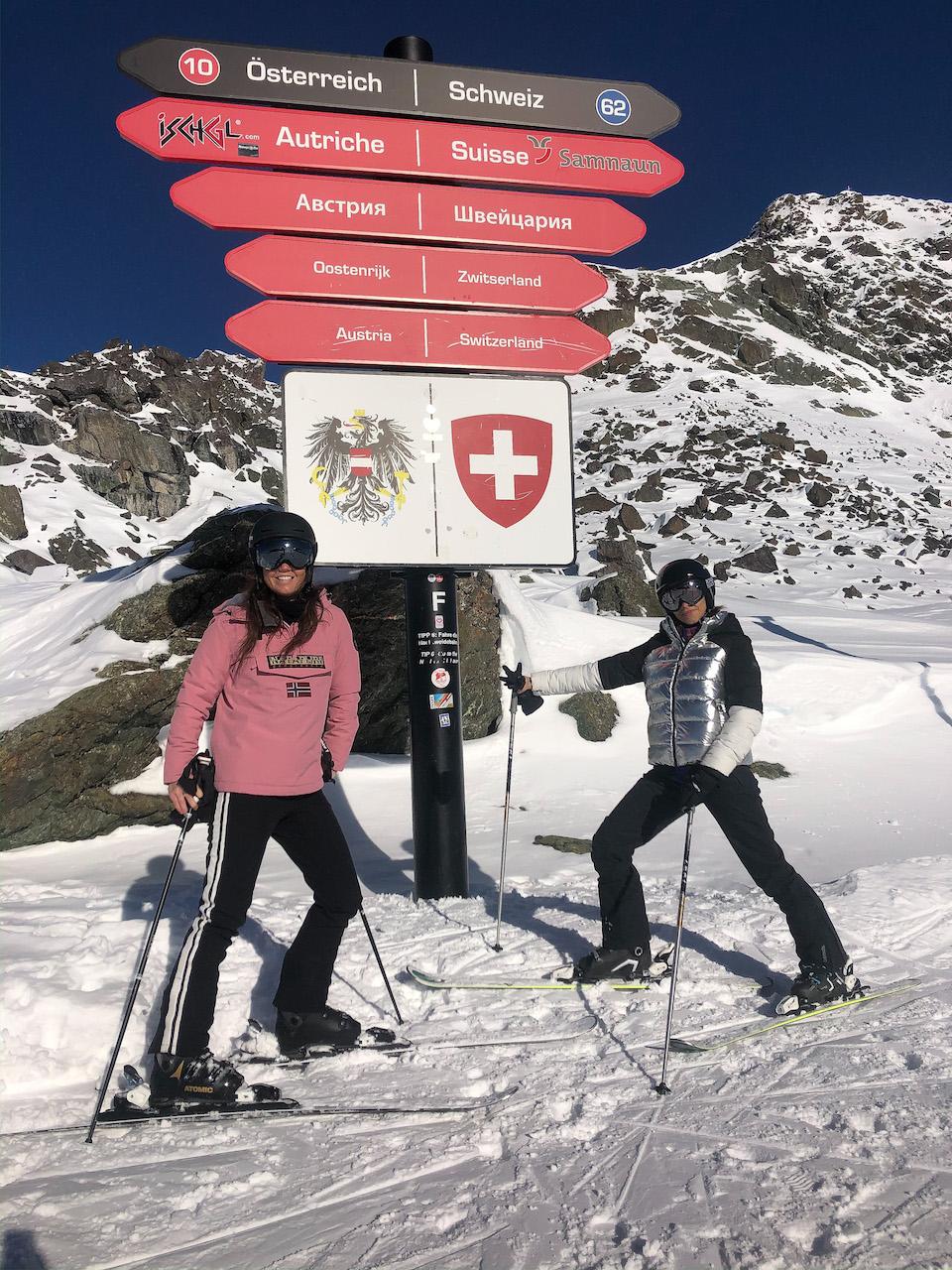 Ischgl ski - wintersport tips - Samnaun - wintersport map - skien in Oostenrijk en Zwitserland - Amandine Hach - Chloe Sterk