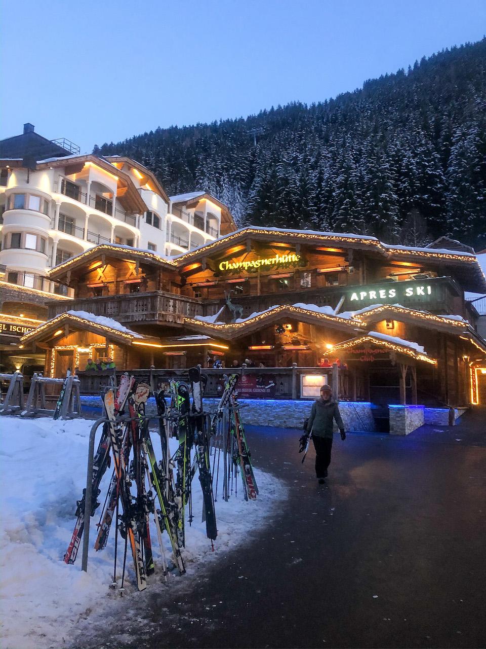 skien in Ischgl - wintersport - Après-ski en clubs inIschgl, Champagnerhütte