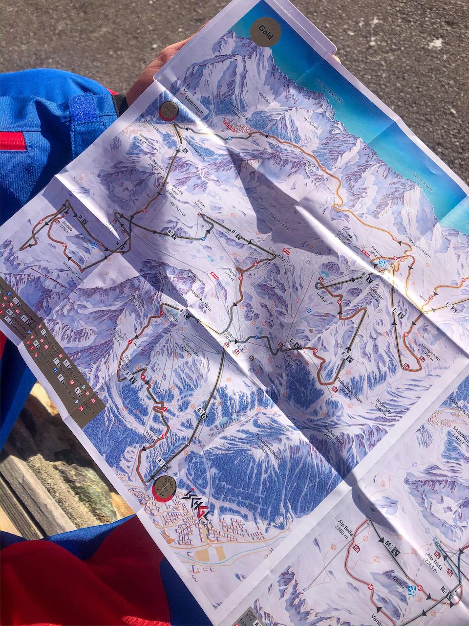 Ischgl ski - wintersport tips - Samnaun - skimap Ischgl - Schhmugglerrunden/ Smuggler's circuits