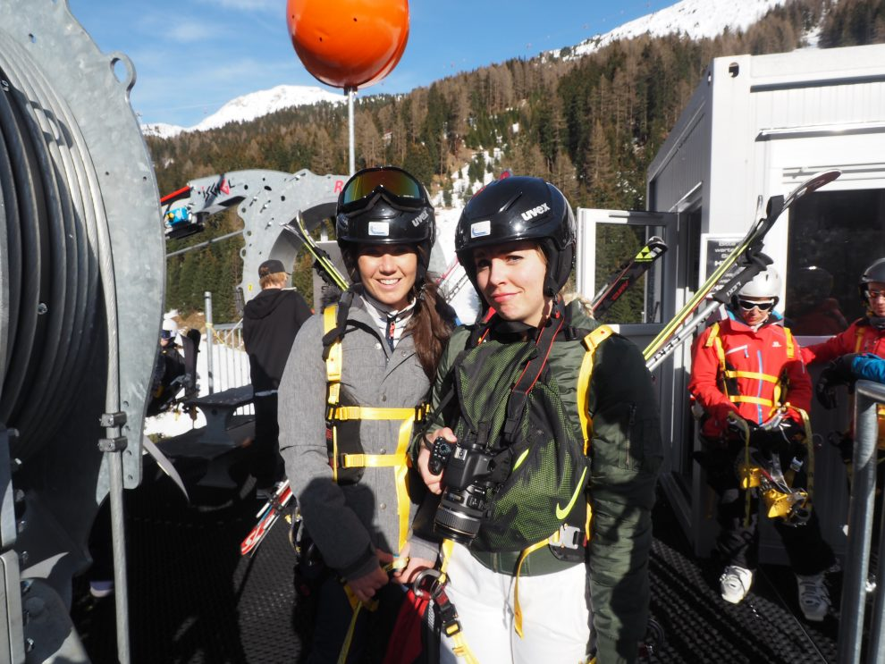 skien in Ischgl - wintersport - Ischgl Skyfly - Esmee Trouw - Chloe Sterk