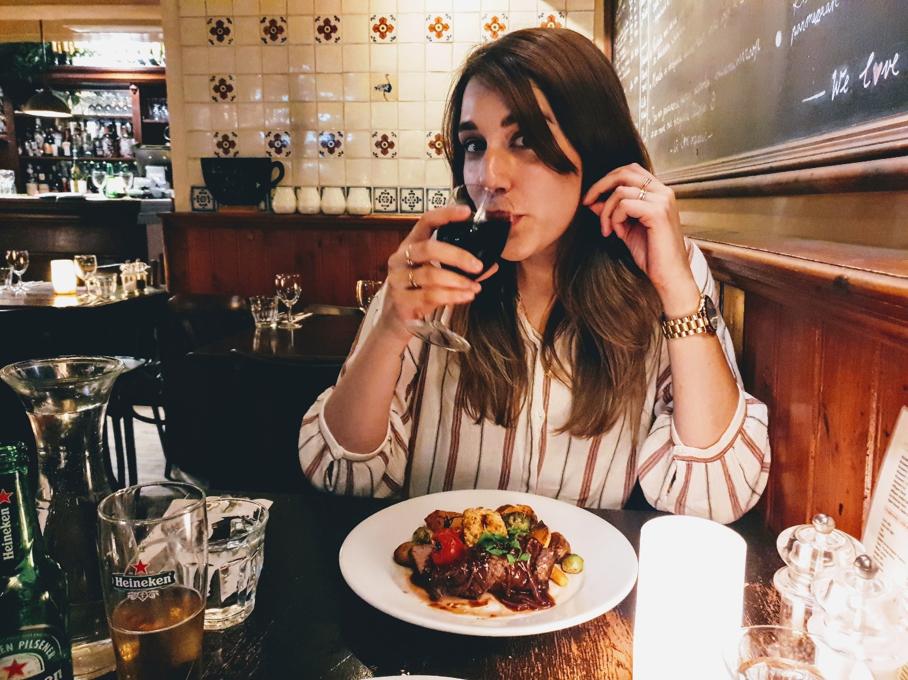 Dineren in de 9straatjes bij restaurant de Struisvogel - Weekendje weg in Amsterdam - dichtbij Leidseplein