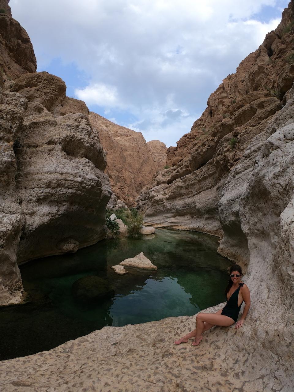 Hoe kom je bij Wadi Shab? kaart rondreis Oman - de bezienswaardigheden en beste reisroute voor 9 dagen.