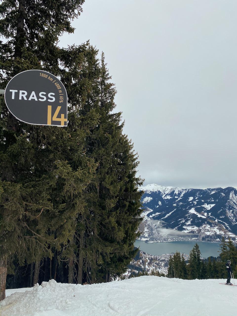 Wintersport Saalbach - Hinterglemm 2020 - Een dag skiën in Zell am See vanuit Saalbach-hinterglemm - Trass 14