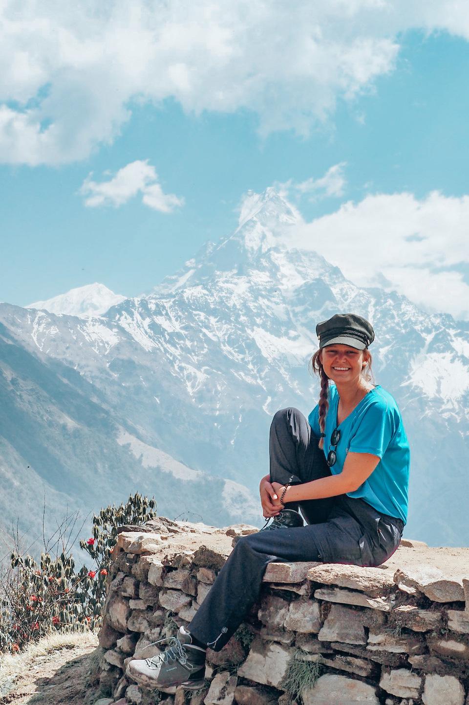Marit van Groen op wereldreis in Nepal