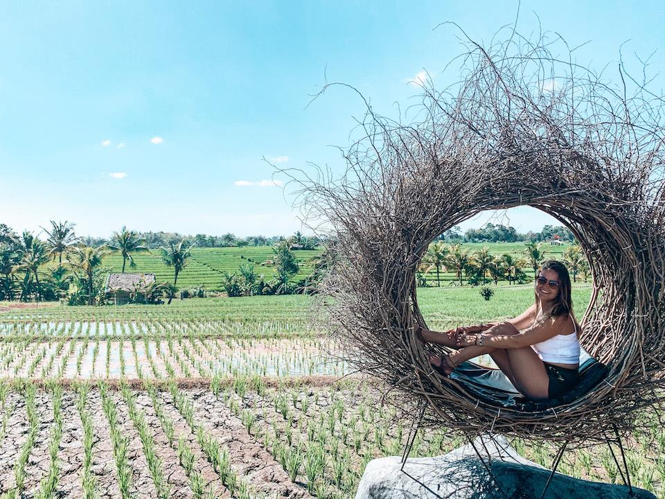 Marit van Groen op wereldreis in Bali