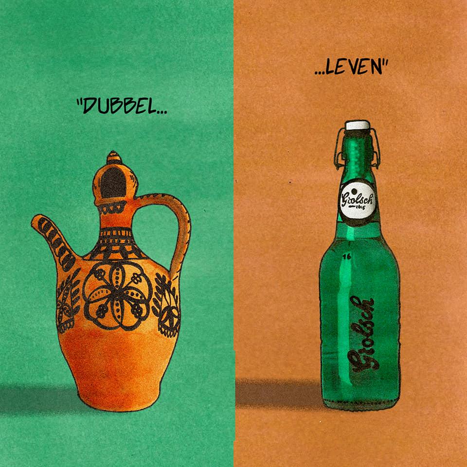 Artwork Agri Alagoz, artwork Koerdisch leven, twee culturen, Agri